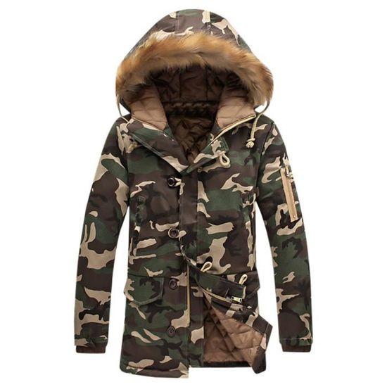 Rembourré Veste Homme Vert D'hiver Mode Épaississement Marioyuzhang Coton Manteau Camouflage aOqvCTx0w