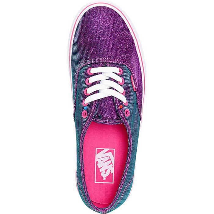 Chaussure Basse VANS Authentic Shimmer Magenta Femme Pointure 38