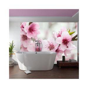papier peint fleur de cerisier achat vente papier peint fleur de cerisier pas cher cdiscount. Black Bedroom Furniture Sets. Home Design Ideas