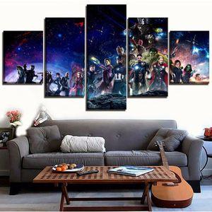 TABLEAU - TOILE Sans cadre 5 pièces Film Avengers Infinity War Tou