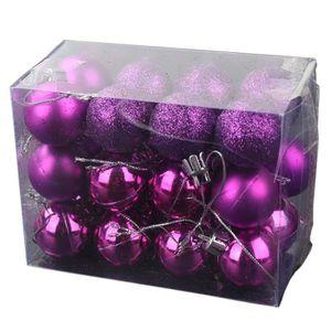 Boule noel violette - Achat / Vente Boule noel violette pas cher ...