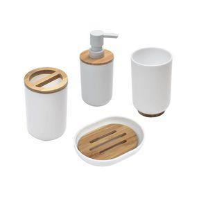 Accessoires salle de bain bambou - Achat / Vente Accessoires salle ...