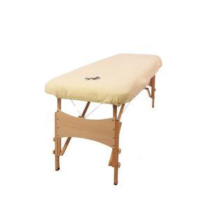 TABLE DE MASSAGE Housse de Massage Aztex avec Trou Visage - Crème