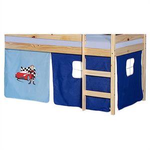 Lit cabane achat vente lit cabane pas cher cdiscount - Rideau pour lit superpose ...