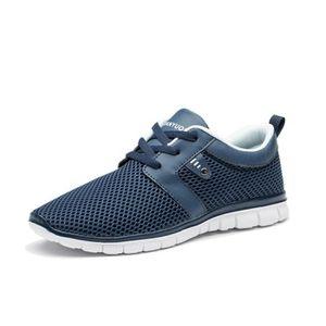 6c1a0b709ec Baskets homme chaussures Antidérapant Grande Taille Haut qualité Respirant  2018 personnalité Poids Léger Sneakers tendance Bleu Bleu - Achat   Vente  basket ...