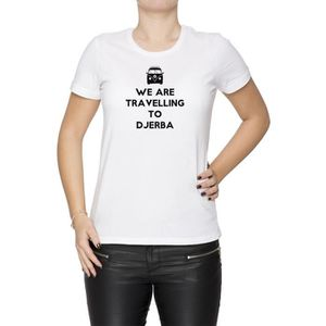 T-SHIRT Tee-shirt - We Are Travelling To Djerba Femme Cou