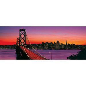 PUZZLE Puzzle 1000 pièces panoramique : Bay Bridge au …