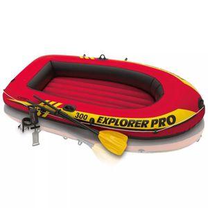 JEUX DE PISCINE Set bateau gonflable avec rames + pompe Intex Expl