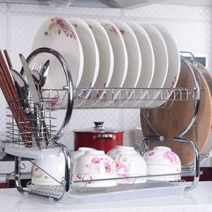 EGOUTTOIR À COUVERTS Panier à vaisselle Crémaillère dish en acier inoxy