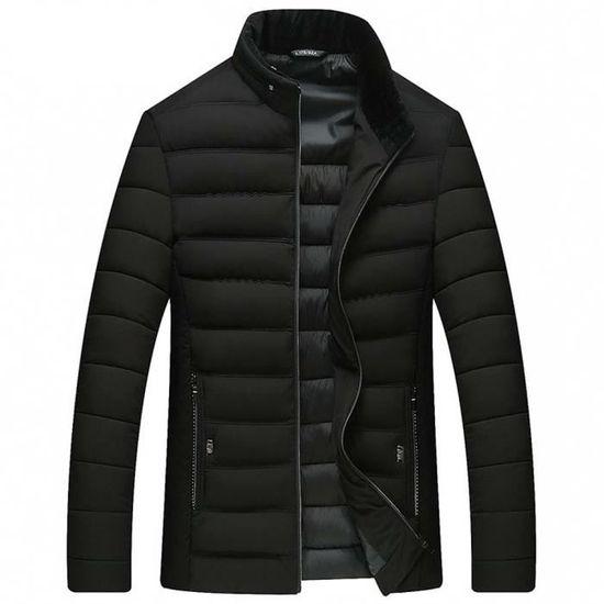 Zippée Chaud Ouatée D'hiver Vetement Épaisse Casual Homme Veste wRqp14n