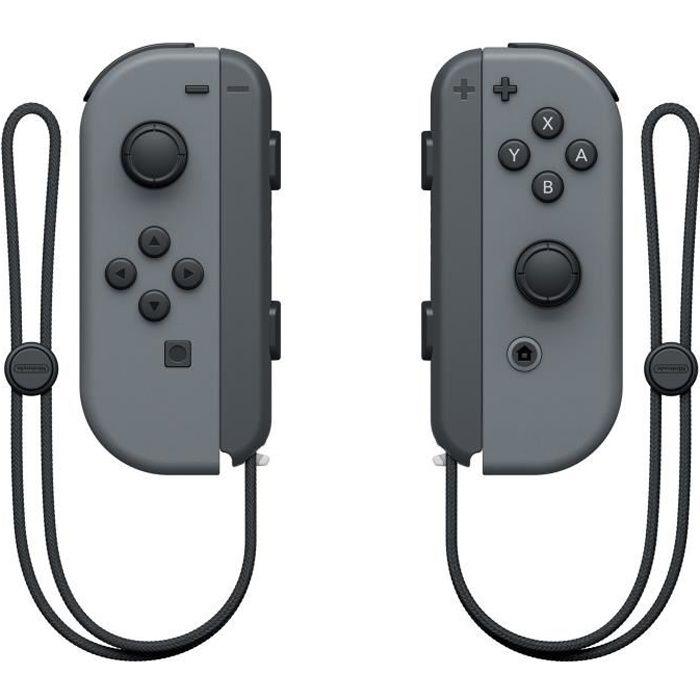 MANETTE JEUX VIDÉO Manettes Joy-Cons Grises pour Console Switch
