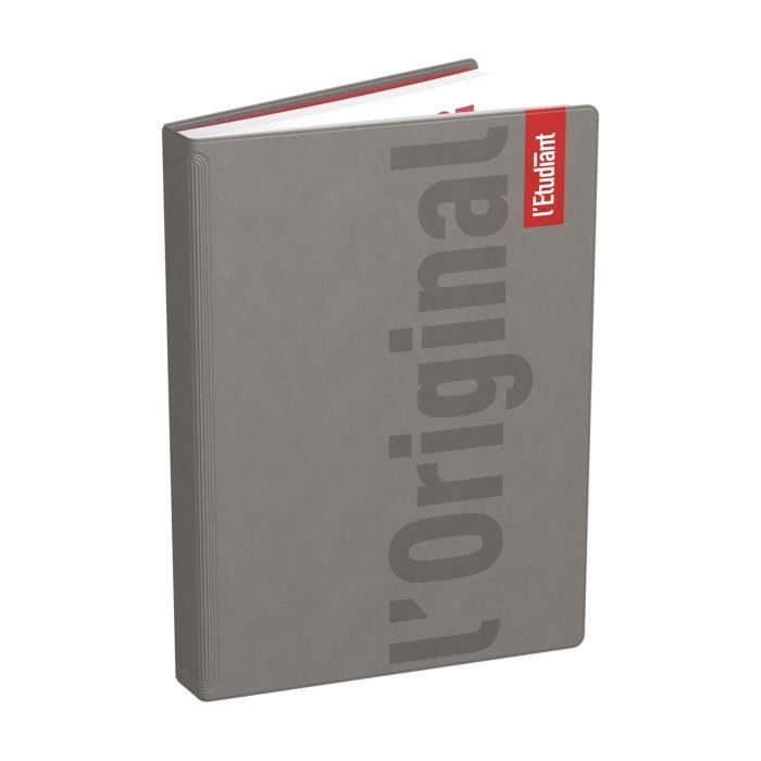 ETUDIANT Agenda 400118751 - 15 x 21 cm - 1 jour par page - Couverture Ouatinée - 352 P - Couleur Taupe