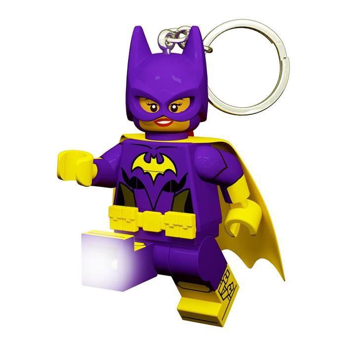 LEGO Batman Movie Porte-clés Batgirl - Visage lumineux - Lumière LED blanc - Tête mobile - 9,53 X 4,06 X 14,92 cm