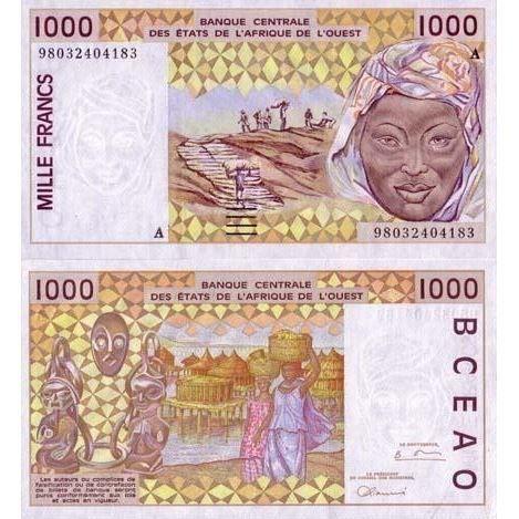 billet de banque ivoirien