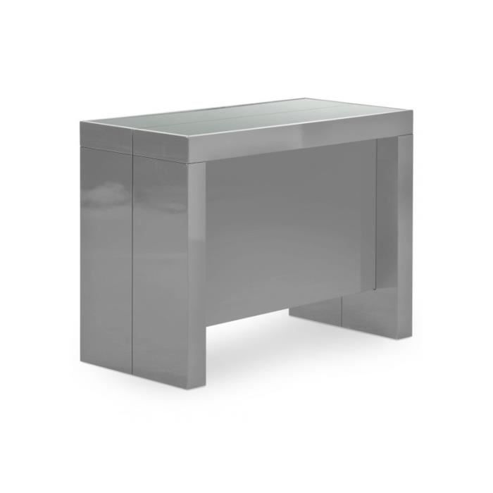 Table Console Teomax Grise Achat Vente Console Extensible Table