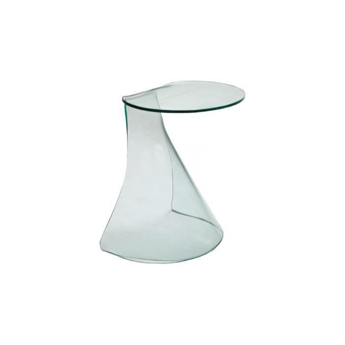 gu ridon design verre courb arrondi achat vente. Black Bedroom Furniture Sets. Home Design Ideas