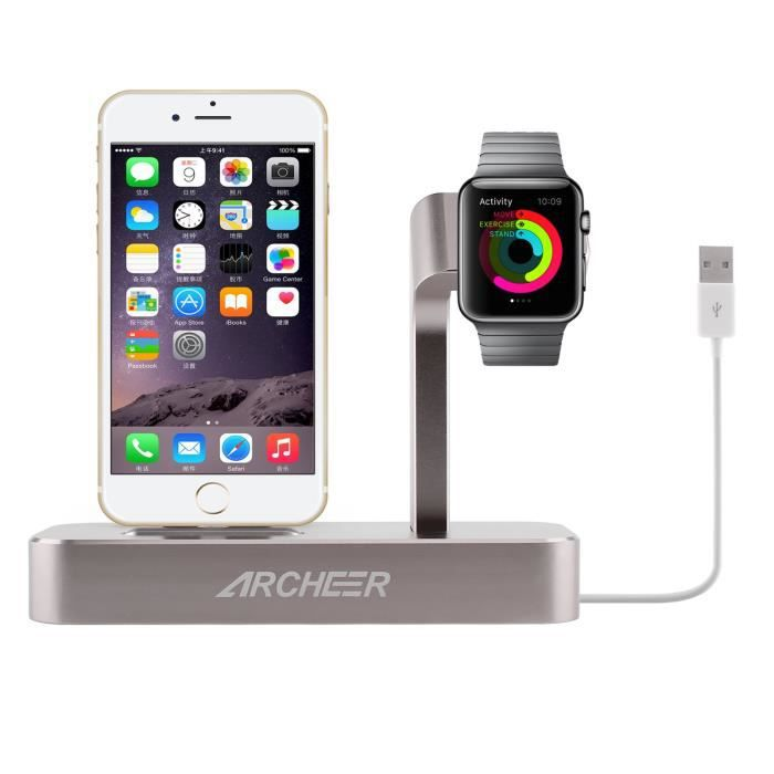 Station d accueil ipad iphone 6 achat vente pas cher - Station accueil iphone ...