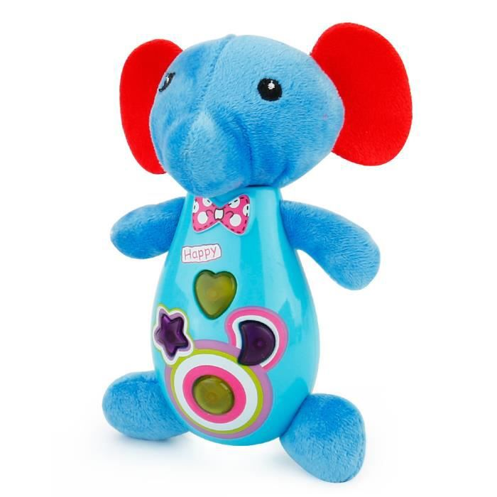 jouet en peluche de dessin animé - musique éducative développement jouet d'enfant - Éléphant