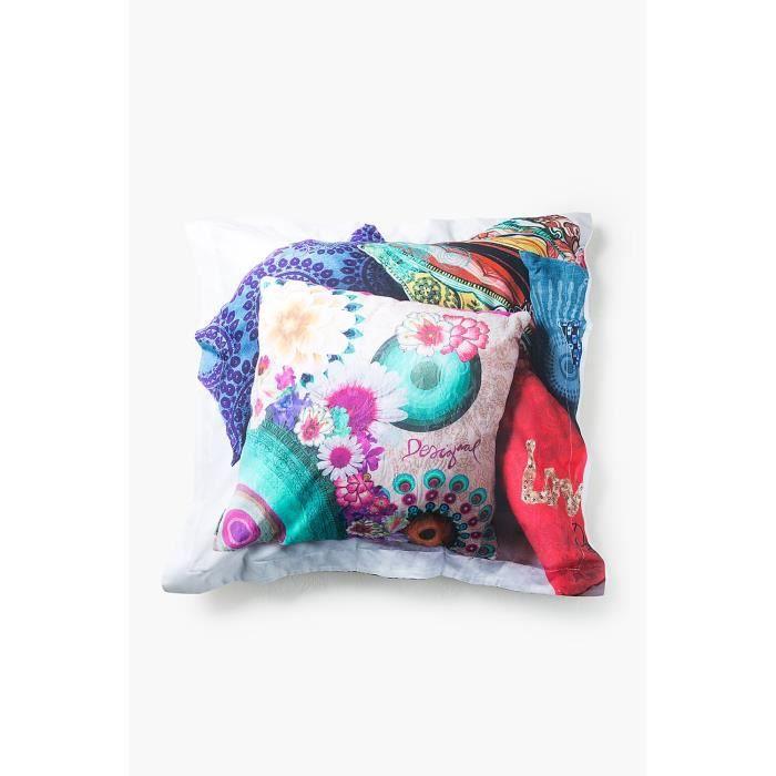 taie oreiller desigual achat vente taie oreiller desigual pas cher soldes d s le 10. Black Bedroom Furniture Sets. Home Design Ideas