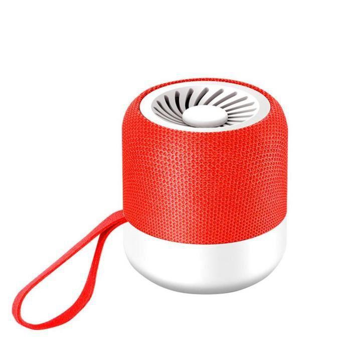 Efuture 5.0 Mini Enceinte Bluetooth Stéréo Sans Fil Série Portable Rouge