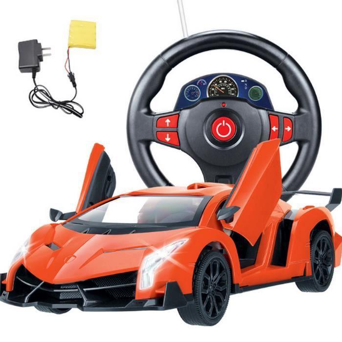 Voiture Sport Volant De Télécommandée Rechargeable Racing vmwNn80