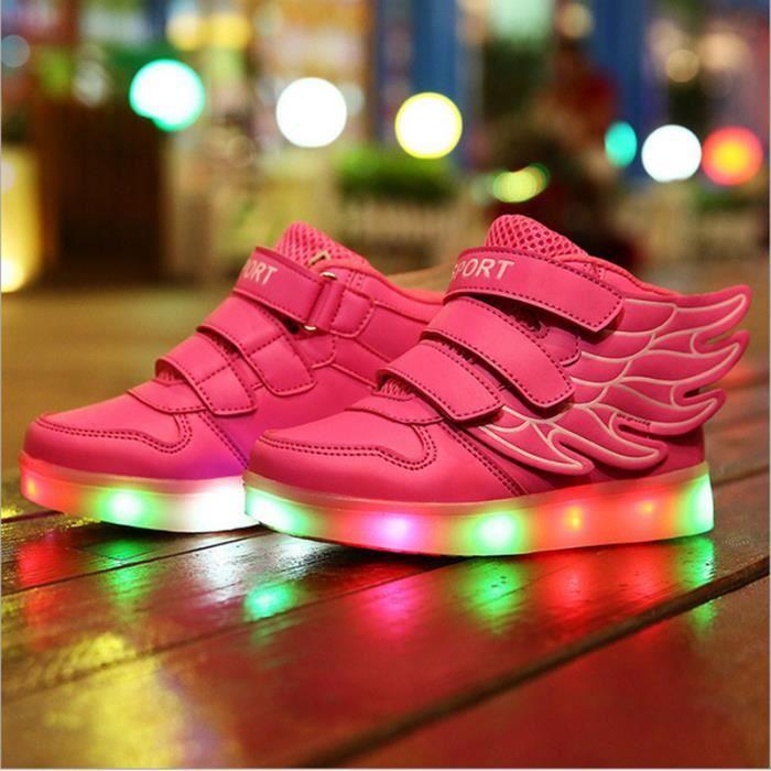 baskets Enfants éclairés lumineux color Fashion x46cqFwSA