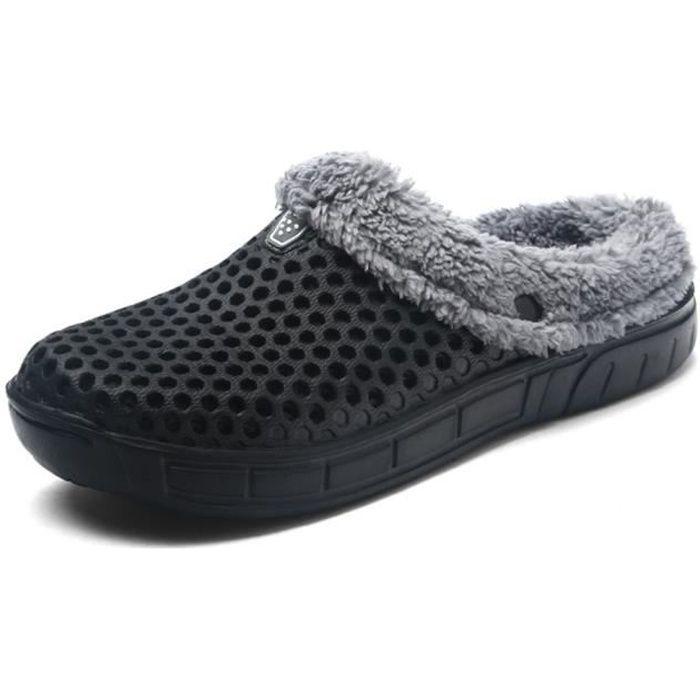 Chaussons Hiver chaud Plus 45 Taille chausson hiver homme hiver Hommes 2018 homme peluche Coton pantoufle 41 Classique chaud vnprvWTZ