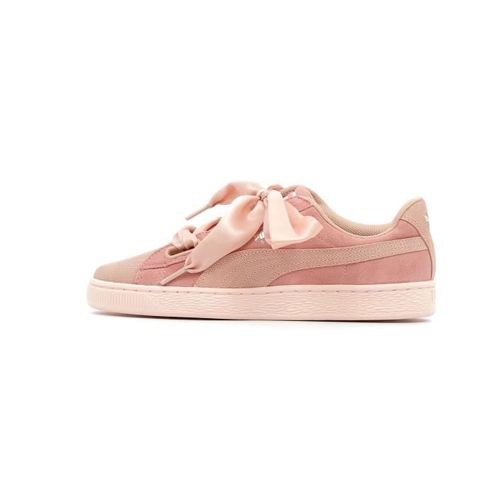 best loved 535d8 e0f32 Baskets basses Puma Suede Heart Pebble coloris Peach Beige - Pearl