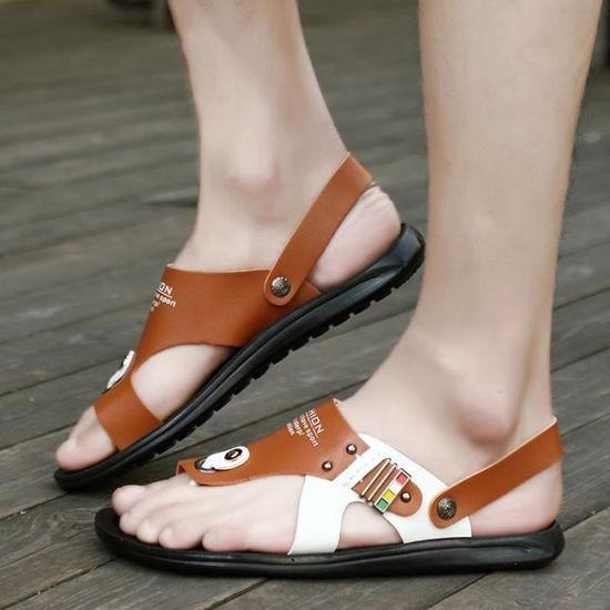 2018 De Occasionnelles Nouveaux Chaussures La Simple Sandales Hommes été Créatif Mode jqpUGMVLSz