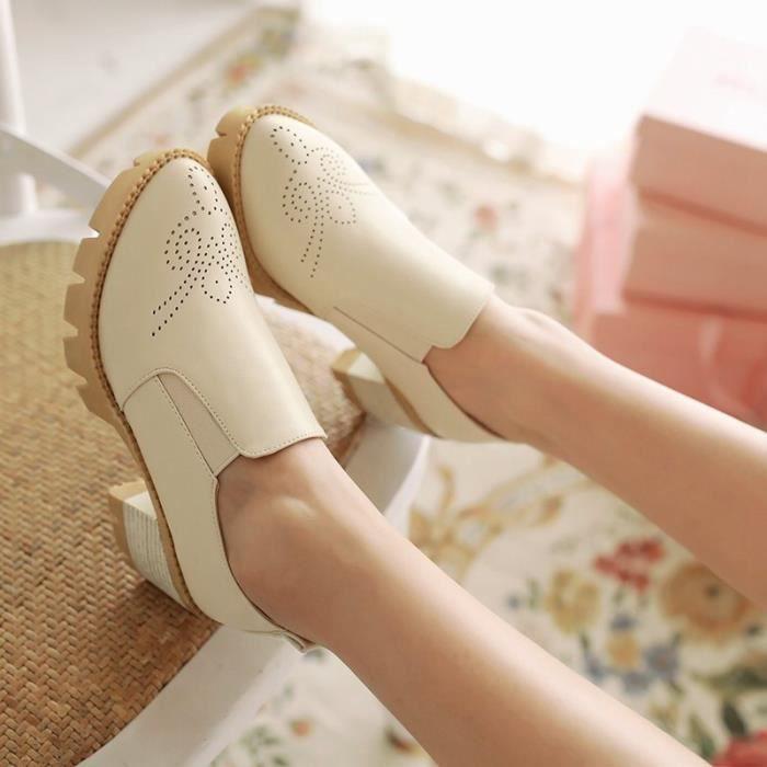 Sandals Femme A Sports OccasionnelsImpression élégante Confortable Tourisme Vernis Franges Lacets