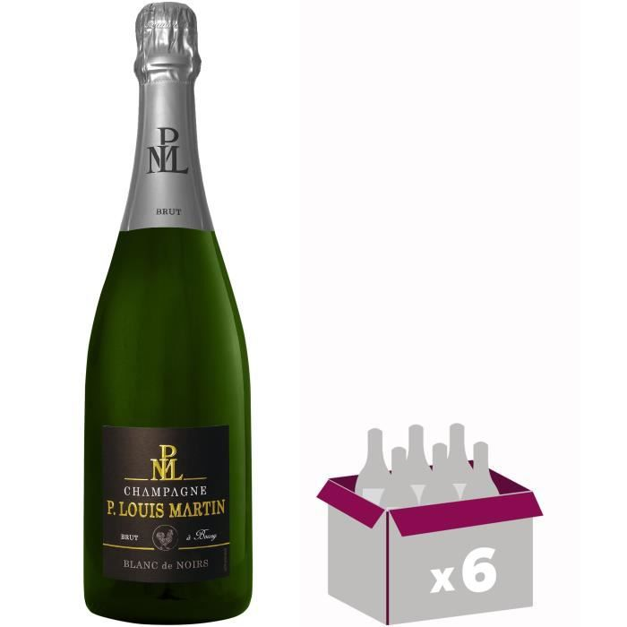 Gh martel paul louis martin champagne blanc de noirs 75 cl x 6