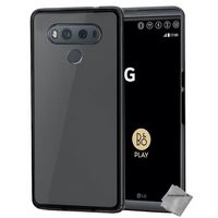 COUSSIN Coque silicone gel fine pour LG G6 + verre trempe