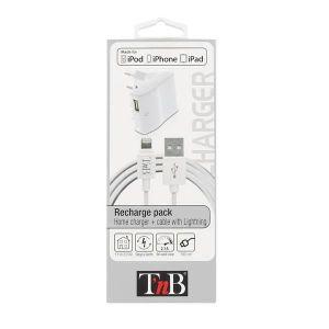 TNB Pack chargeur secteur lightning 2.1 A - Banc