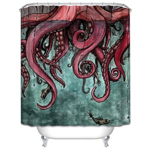 RIDEAU DE DOUCHE Grand poulpe Folding imperméable rideaux de douche