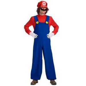 DÉGUISEMENT - PANOPLIE Costume Mario adulte - Taille unique - Deguisement