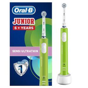 BROSSE A DENTS ÉLEC Oral-B Junior 6+ Verte Brosse À Dents Électrique