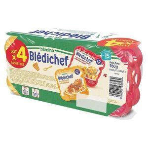 PLATS PRÉPARÉS VIANDE BLEDICHEF x 4 Spaghettis bolo et patates douces po