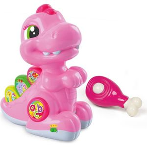 TABLE JOUET D'ACTIVITÉ CLEMENTONI Baby - Baby T-rex rose avec détecteur -