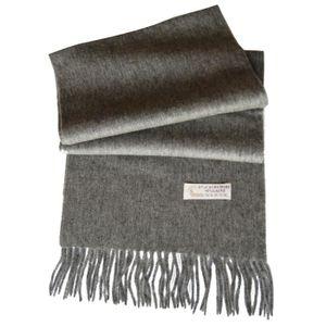 Écharpe laine et cachemire homme femme GRIS GRIS - Achat   Vente ... dd07674f1aed