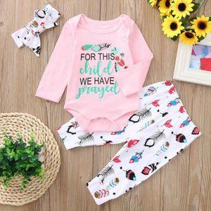 7516d3b460149 Ensemble de vêtements Ensemble de vêtements Bébé fille manches longues b ...