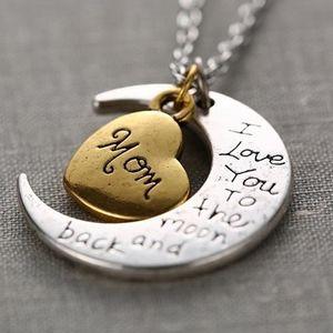 a17b796d7f101 SAUTOIR ET COLLIER Lettres à la mode gravées coeur pendentif en forme