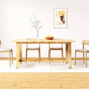 TABLE À MANGER SEULE vidaXL Table de salle à manger Bois de manguier 18