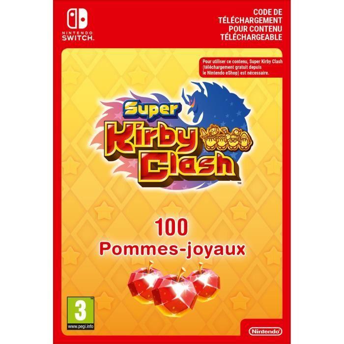 DLC Super Kirby Clash - 100 Pommes-Joyaux - Code de Téléchargement pour Nintendo Switch
