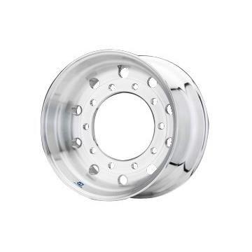 Roue ALCOA en aluminium forgé pour Poids Lourd - 22.5x11.75 déport 0 mm - Perçage 26 mm - Capacité 5.000 kg - Finition Brossée