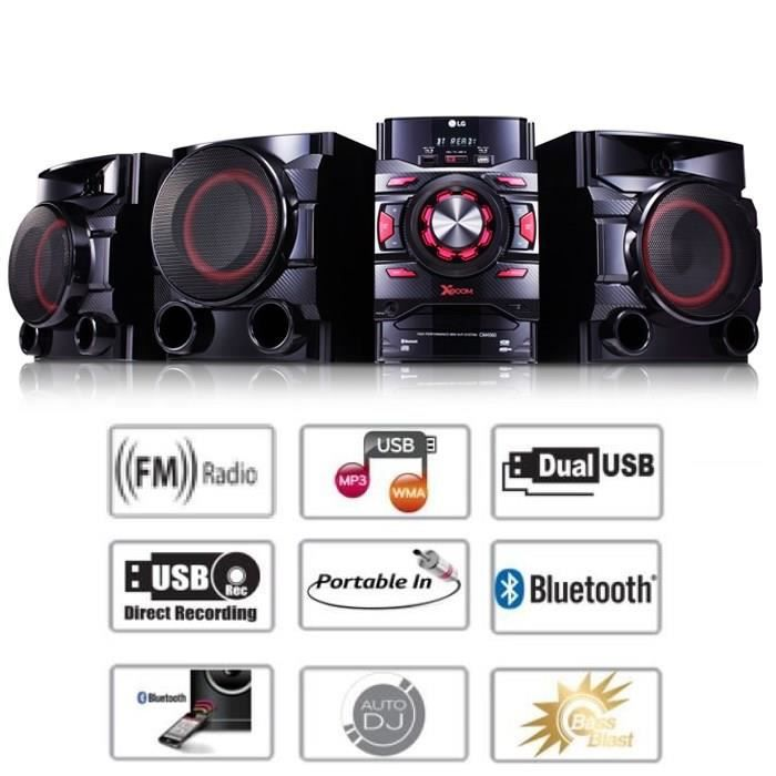 LG CM4560 Chaîne HiFi 700W Bluetooth USB Radio FM