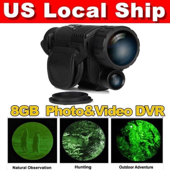 075ff5c4b33dec Télescope monoculaire d observation de la faune de vision nocturne  infrarouge de 5x40 gamme de 200m