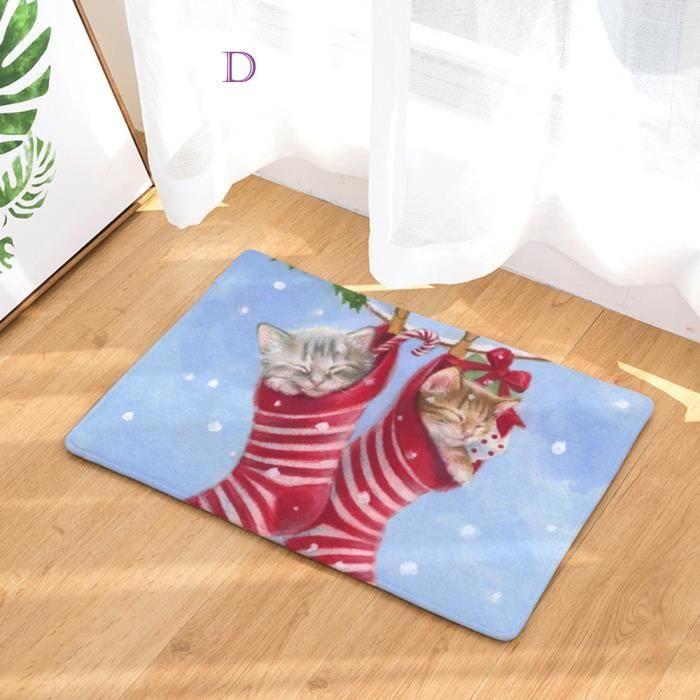 TAPIS Pachasky®Maison de Noël antidérapant porte tapis d