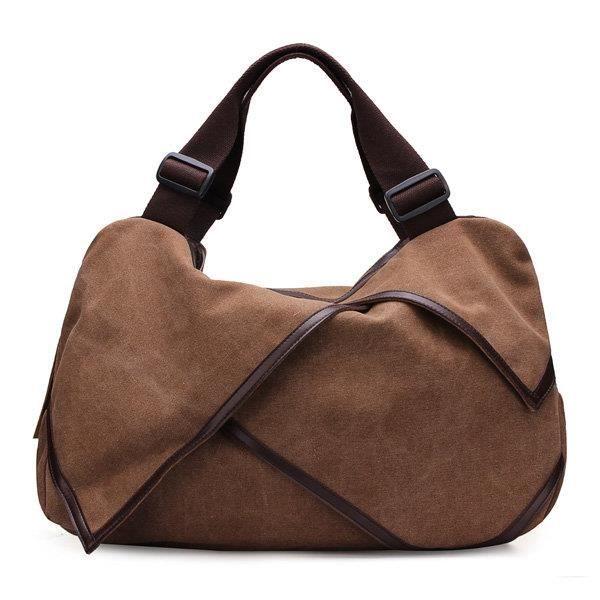 SBBKO3712Toile portable tote sacs à main fleur design épaule Sacs bandoulière sacs big bag café L