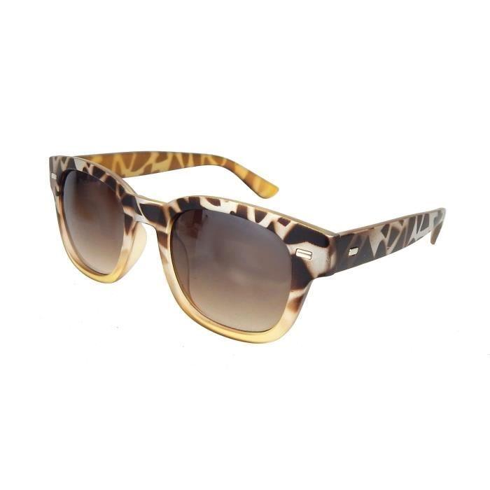 lunettes soleil jaune style brun de design en Leopard rB5w4Prxq8