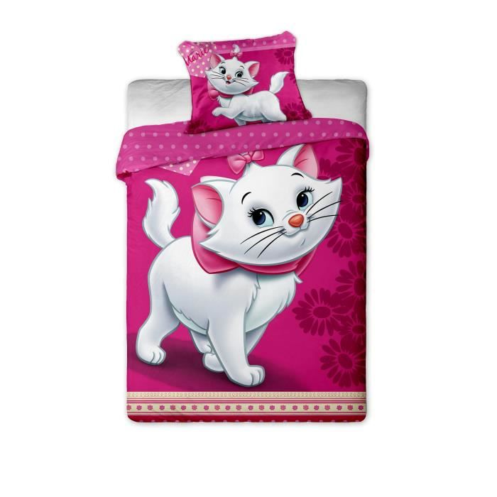 Parure de lit marie aristochat disney 100 coton achat - Tour de lit marie aristochat ...